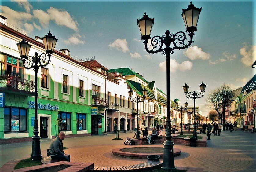 Sovetskaya street in Brest