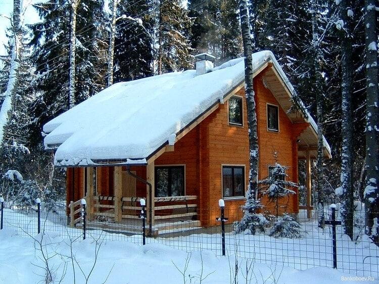 Зимний домик в горнолыжном курорте