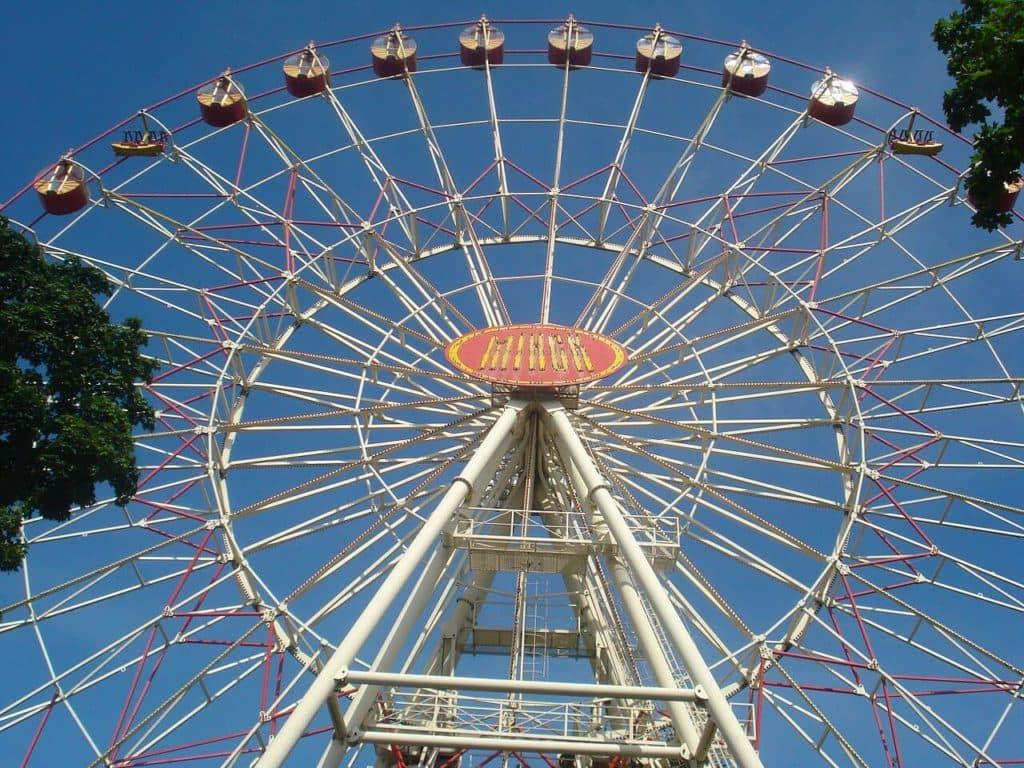 Ferris wheel in Gorky Park in Minsk