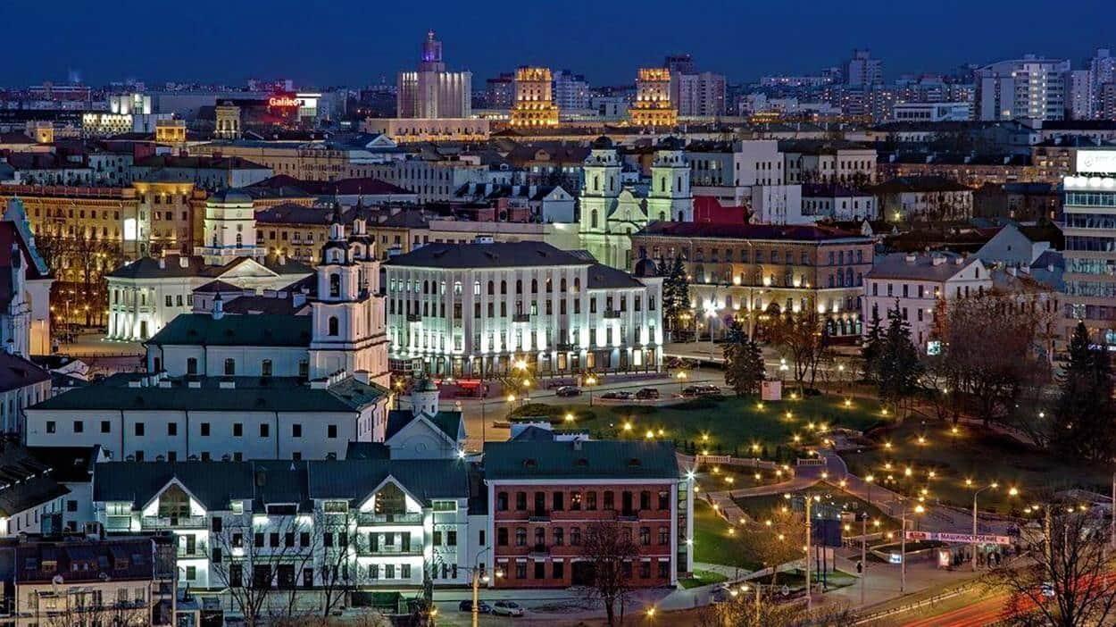 Панорама Минска вечером