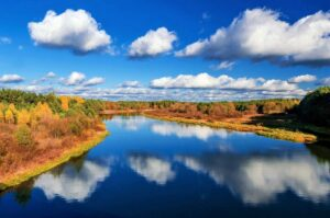 Осенняя река в Беларуси