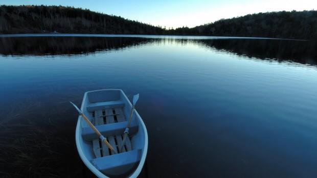 Boat on the Naroch lake