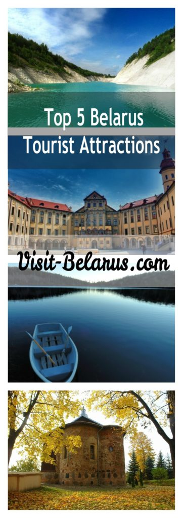 Tourist attractions in Belarus collage