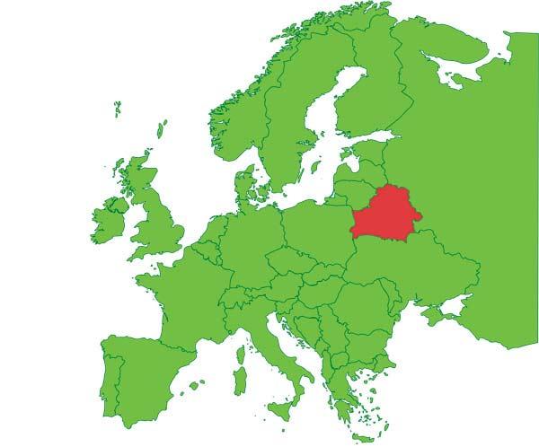 Беларусь на карте Европы, интересные факты о Беларуси