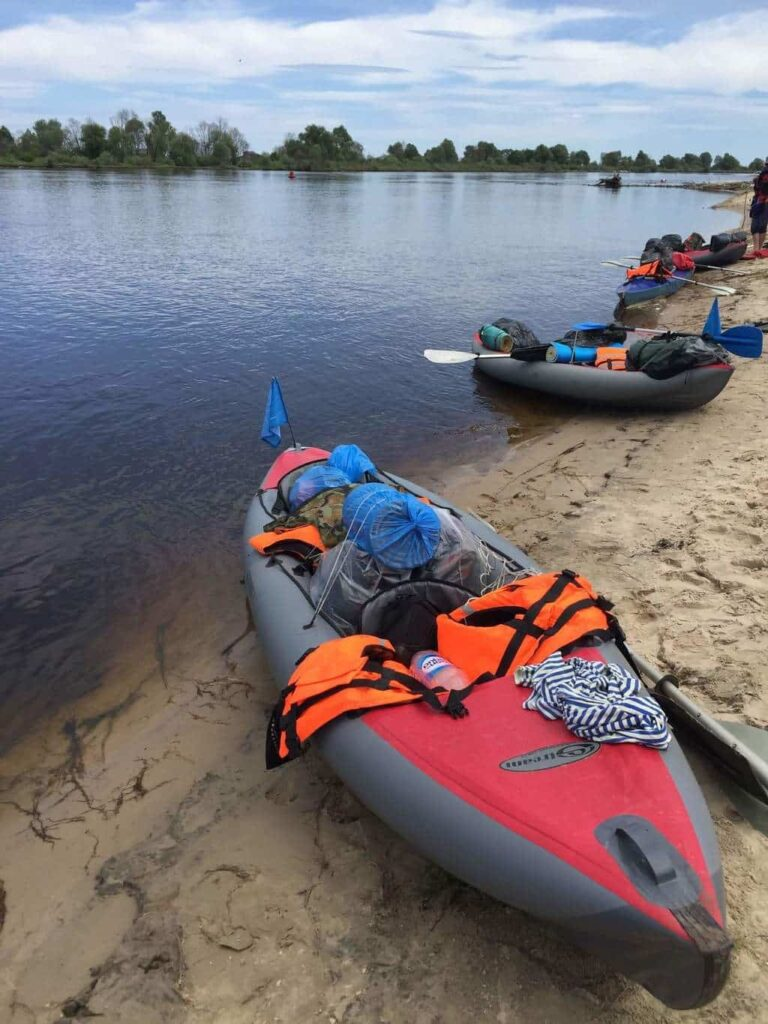 Kayaking on the rivers