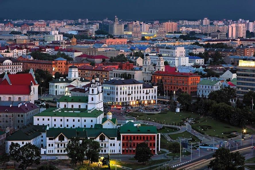 Исторический центр Минска на рассвете