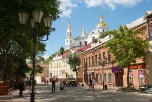 Улица Витебска днем, достопримечательности города