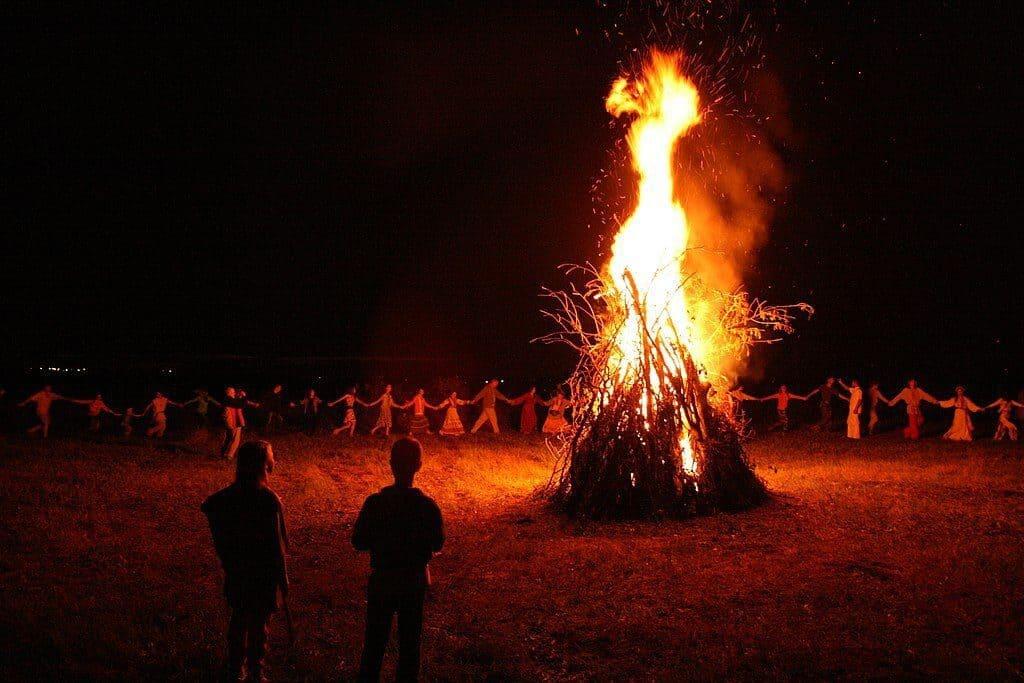 Fire on Ivan Kupala day in Belarus